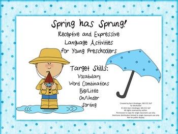 Spring Has Sprung Receptive and Expressive Language Activi