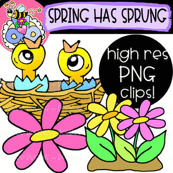 Spring Has Sprung: Spring Clipart {DobiBee Designs}
