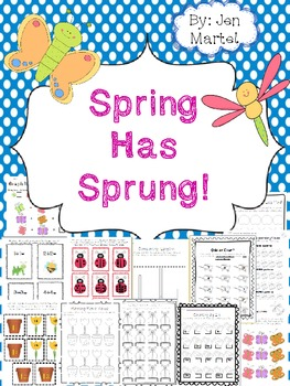 Spring Has Sprung! (Spring Themed Math Centers Aligned to the Common Core)