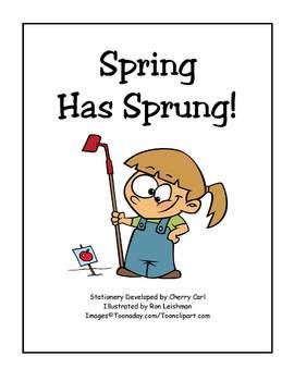 Spring Has Sprung Stationery Set