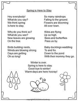 Spring Poetry Plays And Writing
