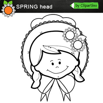 Spring Heads Clip Art