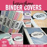 Editable Binder Covers {Herringbone}