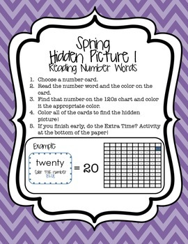 Spring Hidden Picture Math Activities {120 Charts}