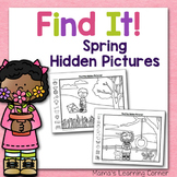 Spring Hidden Picture Worksheets