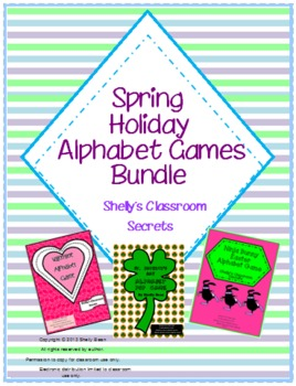 Spring Holiday Alphabet Games Bundled Set
