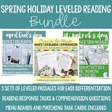 Leveled Texts & Reading Response Tasks--Spring Holiday Rea