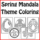 Spring Holiday Theme Mandala Coloring Book - April Fool's,