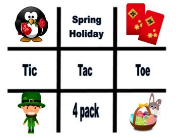 Tic Tac Toe Spring Holiday  Bundle - VIPKID reward idea