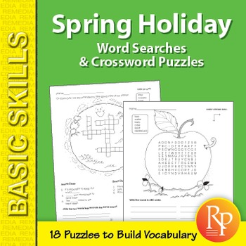 Spring Holiday Word Search & Crossword Puzzles