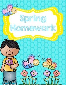 Spring Homework Pack