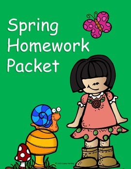 Spring Homework Packet (No Prep!)