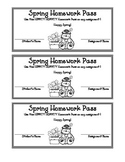 Spring Homework Pass