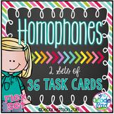 Homophones: 36 Task Cards  (2 formats) Reading Street Unit 5