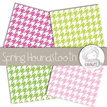 Spring Houndstooth - Digital Paper