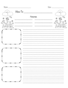 Spring How-To Writing Paper