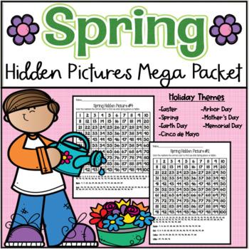 Spring Hundred's Chart Hidden Picture Mega Pack
