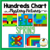 Hundreds Chart Mystery Pictures - Spring Pack