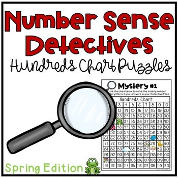 Spring Hundreds Chart Puzzles