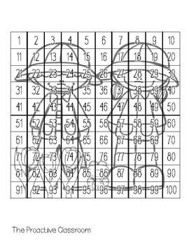 Spring Hundreds Chart Puzzles- Number Sense Activities on 100s Chart!