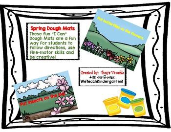 """Spring """"I Can"""" Dough Mats"""