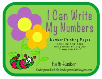 Spring I Can Write My Numbers