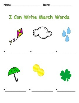 """Spring """"I Can Write"""" Pack"""