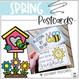 Spring I Miss You Postcards Distance Learning