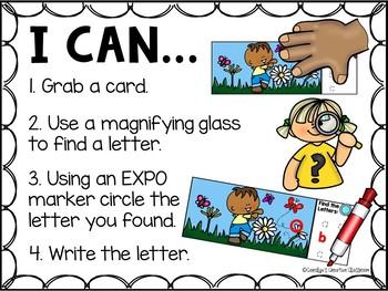 Spring I Spy Alphabet Literacy Center - Spring Letter Center