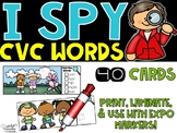 Spring I Spy CVC Words Literacy Center