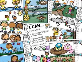 Spring I Spy CVC Words Literacy Center