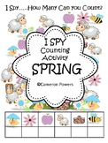 Spring I Spy Counting Activity for Little Kids