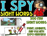 Spring I Spy Fry Sight Words (200 Sight Words)