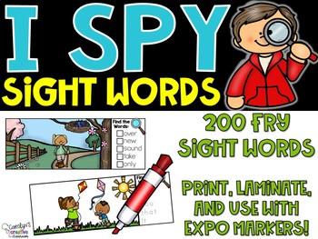 Spring I Spy Fry Sight Words (200 Sight Words)