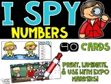 Spring I Spy Numbers 1-20 - Spring Number Math Center