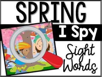 Spring I Spy Sight Words