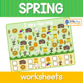 Spring I spy  worksheets
