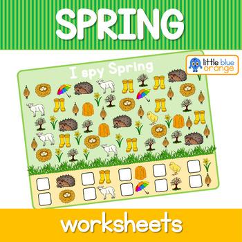 Spring I spy  worksheets