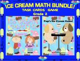 Math Bundle! Grade 2 Task Cards  Game