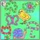 Spring Icon Game Boards Clip Art CM