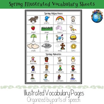 Spring Illustrated Vocabulary Sheets