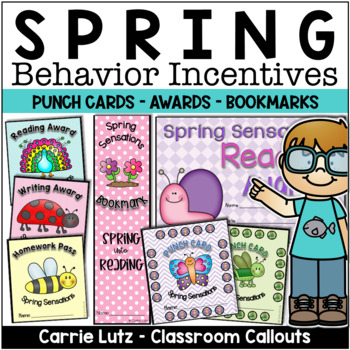 Spring Incentive Pack ~ Punch Cards, Certificates, Bookmar