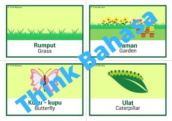 Spring Indonesian Vocabulary Flashcards | Musim Semi | Bahasa Indonesia