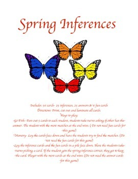 Spring Inferences