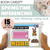 Spring Vocabulary Inferencing Boom Cards™