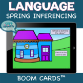 Spring Inferencing WH questions speech therapy activities on Boom Cards