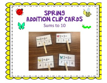 Spring Insect Addition Clip cards