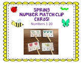 Spring Insect Number Clip cards