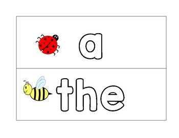Spring Insect Sight word cards