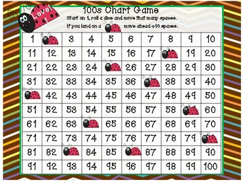 Spring Insect/Bug 100s Chart Game- differentiated (Common Core)